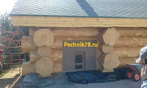 Банная печь каменка с расположением камней над топкой, построена во Всеволожском районе поселок Мельничный ручей, мастером печником из Всеволожска