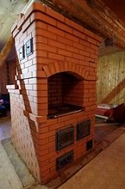 Кладка печей шведка в Белоострове от местного печника, на картинке печь из печного кирпича купленный на стройбазе в белоостровском направлении