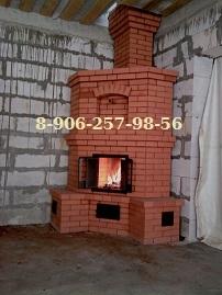 Печь угловая сложена мастером из Мги в поселке Михайловское. Служит для отопления комнаты в 52 м.