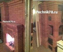 Кирпичная печь - камин недорого от печника в СПб